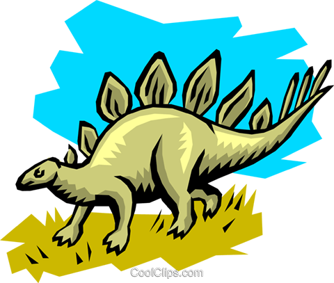 Stegosaurs Royalty Free Vector Clip Art illustration anim0745