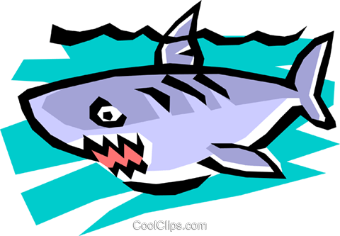 Shark Royalty Free Vector Clip Art illustration anim0749