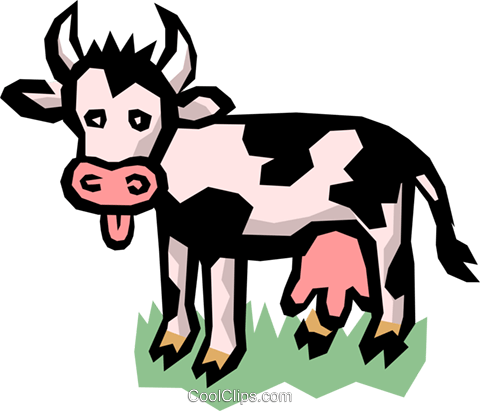 Dairy cow Royalty Free Vector Clip Art illustration anim0750