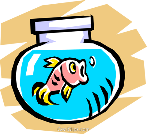 Fishbowl Royalty Free Vector Clip Art illustration anim0759
