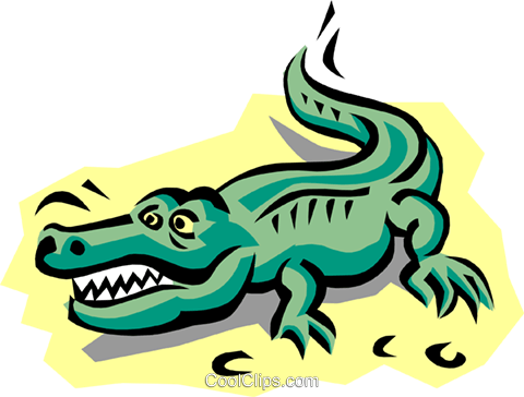 Alligator Royalty Free Vector Clip Art illustration anim0766