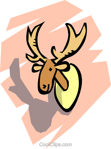 Moose head Royalty Free Vector Clip Art illustration anim0768
