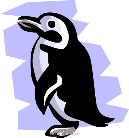 Penguin Royalty Free Vector Clip Art illustration anim0773