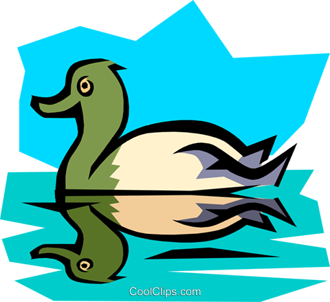 Duck Royalty Free Vector Clip Art illustration anim0778