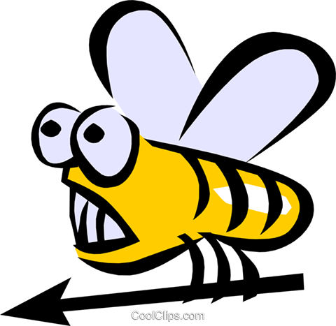 Bumble bee Royalty Free Vector Clip Art illustration anim0780