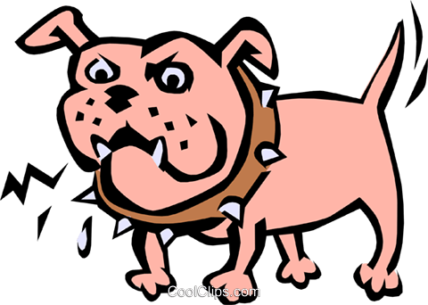 Junkyard dog Royalty Free Vector Clip Art illustration anim0783