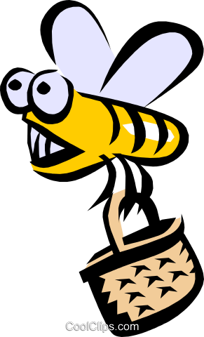 Bumblebee Royalty Free Vector Clip Art illustration anim0787