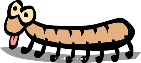 Caterpillar Royalty Free Vector Clip Art illustration anim0792