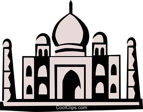 Taj Mahal Royalty Free Vector Clip Art illustration arch0262