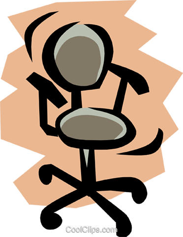 Chair Royalty Free Vector Clip Art illustration busi0491