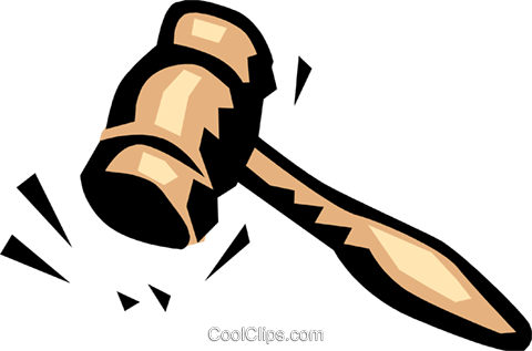 Gavel Royalty Free Vector Clip Art illustration busi0493