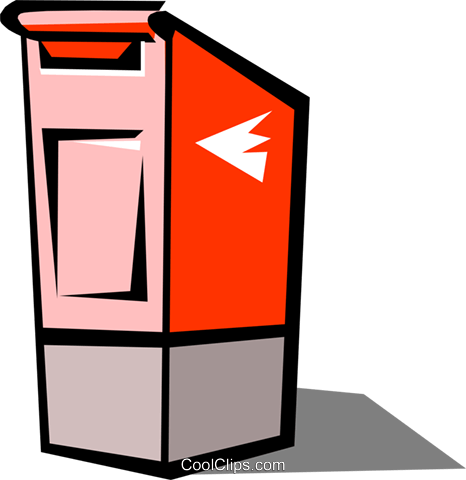 Mail box Royalty Free Vector Clip Art illustration busi0497