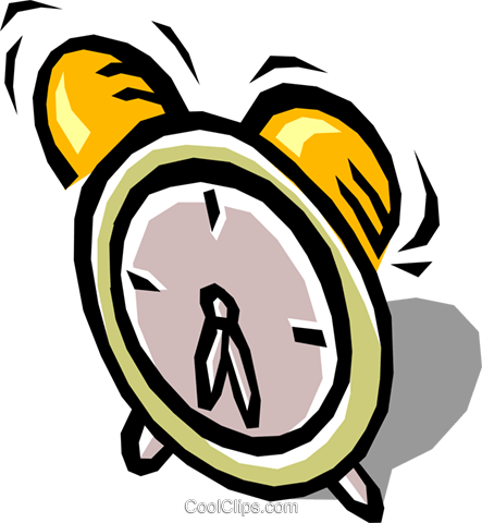 Alarm clocks Royalty Free Vector Clip Art illustration busi0498