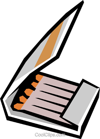 Matches Royalty Free Vector Clip Art illustration envi0117
