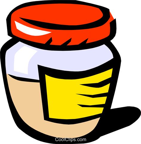 Mustard jar Royalty Free Vector Clip Art illustration food0249