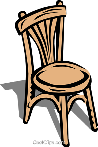 Chair Royalty Free Vector Clip Art illustration hous0443