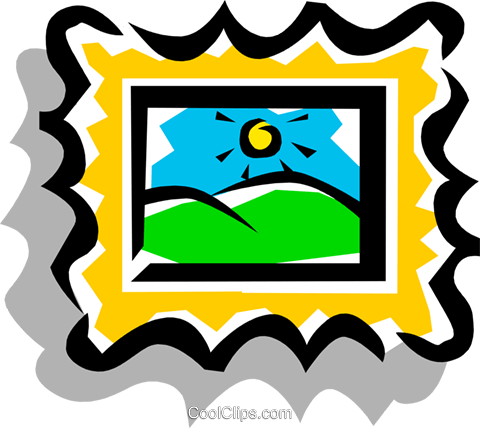 Picture Frame Royalty Free Vector Clip Art illustration hous0451