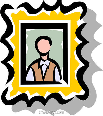 Picture Frame Royalty Free Vector Clip Art illustration hous0452