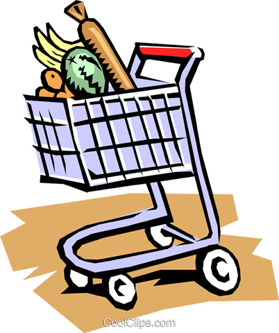 Grocery cart Royalty Free Vector Clip Art illustration indu0473