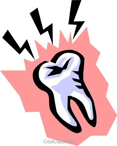 Tooth Royalty Free Vector Clip Art illustration medi0107