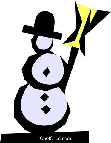Snowman Royalty Free Vector Clip Art illustration natu0287