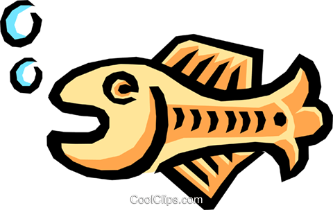 Fish symbol Royalty Free Vector Clip Art illustration anim0795