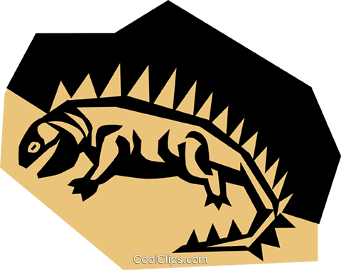 Lizard Royalty Free Vector Clip Art illustration anim0798