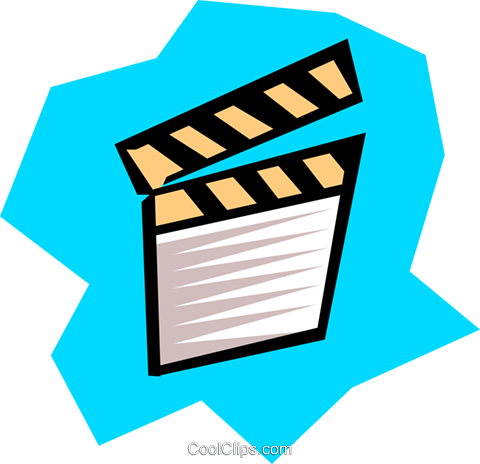 Clapper board Royalty Free Vector Clip Art illustration arts0177
