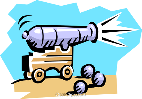 cannon Royalty Free Vector Clip Art illustration busi0503