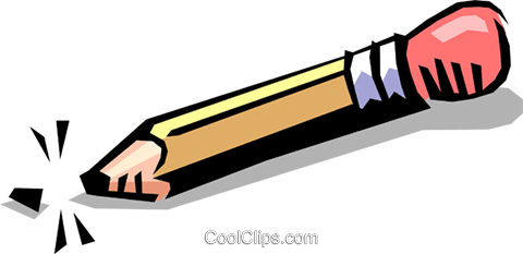 Pencil Royalty Free Vector Clip Art illustration busi0510