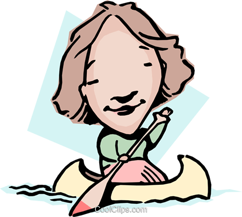 Paddling upstream Royalty Free Vector Clip Art illustration cart0916