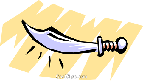 Cartoon weapons Royalty Free Vector Clip Art illustration cart1054