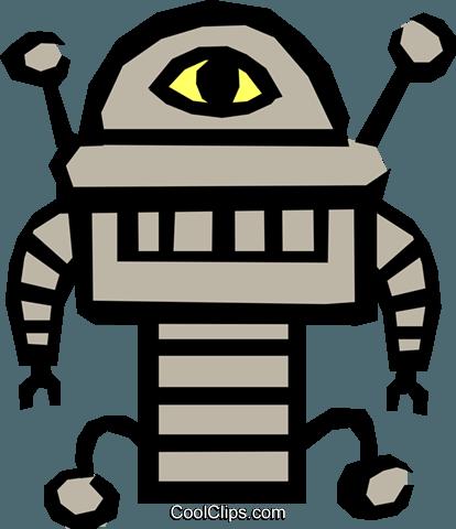 机器人 免版税矢量剪贴画插图图片