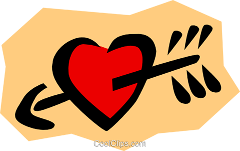 Heart with arrow Royalty Free Vector Clip Art illustration even0300