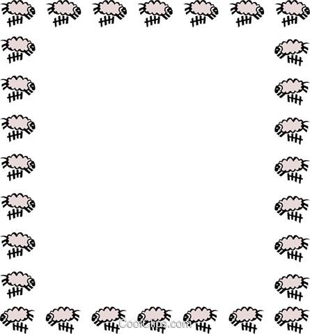 Counting sheep border Royalty Free Vector Clip Art illustration even0310