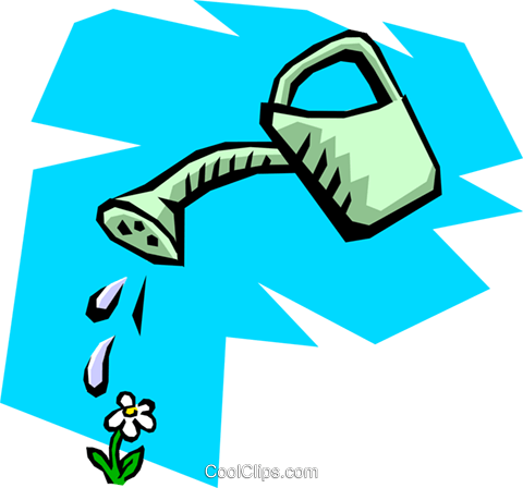 Watering can Royalty Free Vector Clip Art illustration hous0455