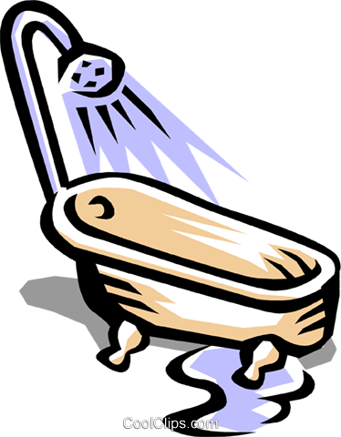 Bathtub Royalty Free Vector Clip Art illustration hous0456