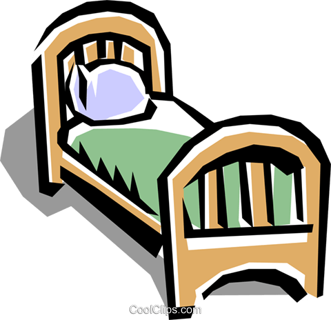 Bed Royalty Free Vector Clip Art illustration hous0457