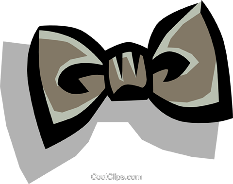 Bow tie Royalty Free Vector Clip Art illustration hous0459