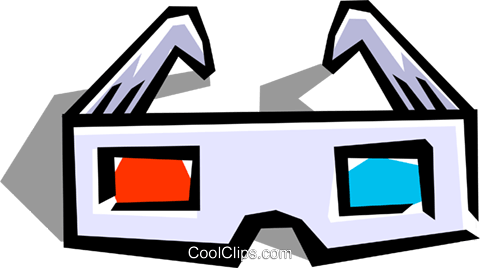 3-D glasses Royalty Free Vector Clip Art illustration hous0465
