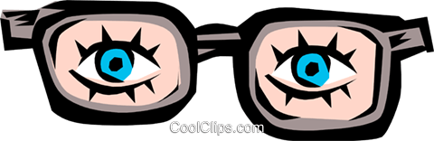 Joke glasses Royalty Free Vector Clip Art illustration hous0466
