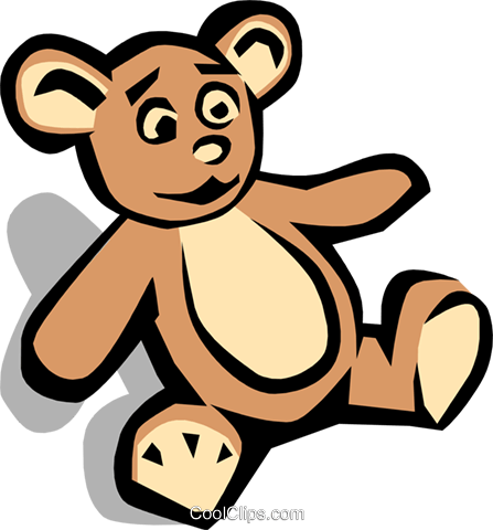 Teddy bear Royalty Free Vector Clip Art illustration hous0484