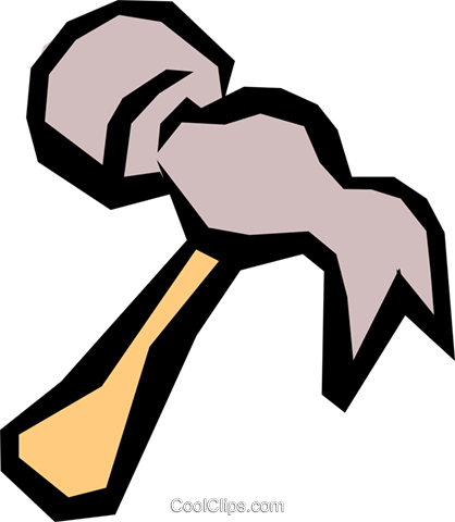 Hammer Royalty Free Vector Clip Art illustration indu0501
