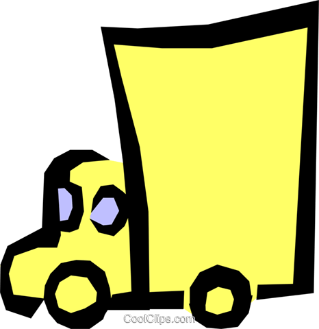 Truck Royalty Free Vector Clip Art illustration indu0502