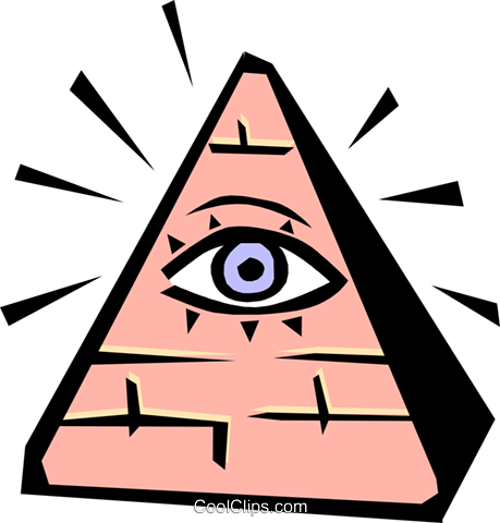 Seeing eye Royalty Free Vector Clip Art illustration medi0206