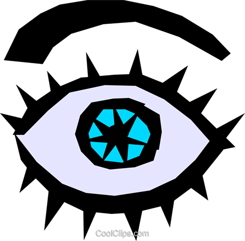 Eye Royalty Free Vector Clip Art illustration medi0207
