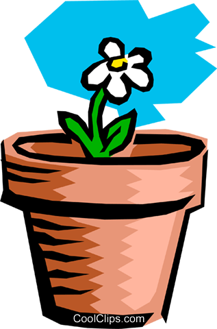 Potted plant Royalty Free Vector Clip Art illustration natu0068