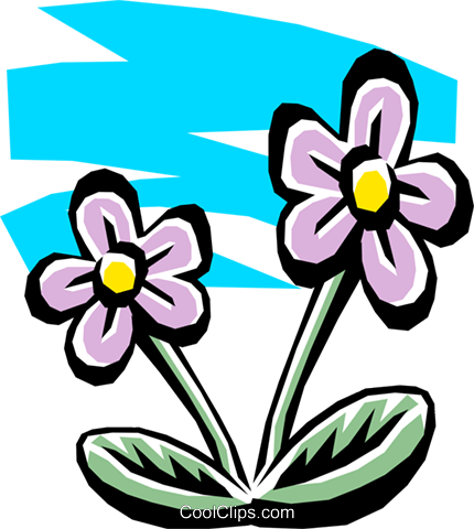 Flowers Royalty Free Vector Clip Art illustration natu0070