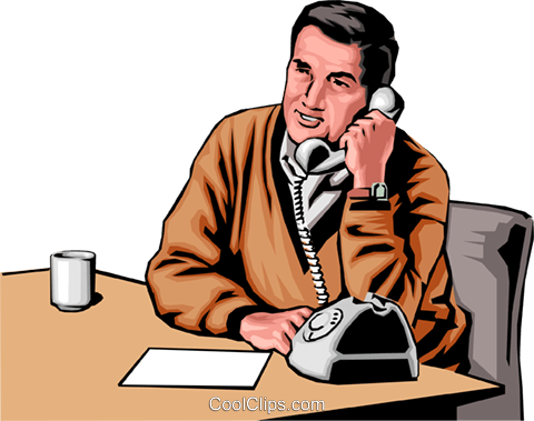 Man with phone Royalty Free Vector Clip Art illustration peop0021