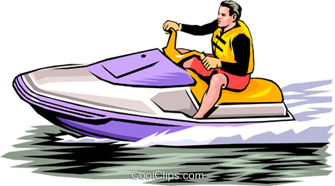 Person on personal watercraft Royalty Free Vector Clip Art illustration peop0033